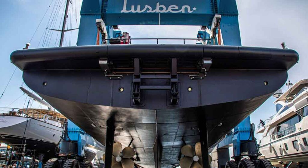 the family of the late Andrea Merloni had the megayacht Audace refitted at Lusben