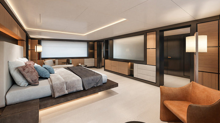 the Nauta 54m Wide megayacht makes better use of space