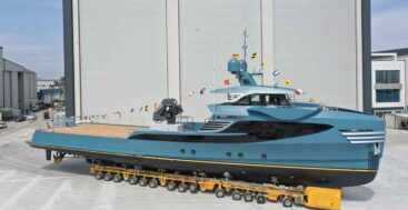 Phi Phantom is a superyacht support vessel from Alia Yachts