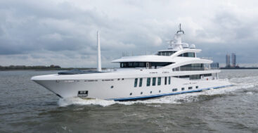 Stella M, an Amels 200 megayacht, departed the shipyard in 2021