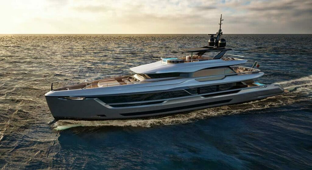 the Mistral 41 is a new megayacht series from a new team, Atlante Yachts