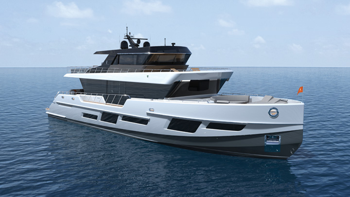 the CLX96 megayacht launches in July 2021