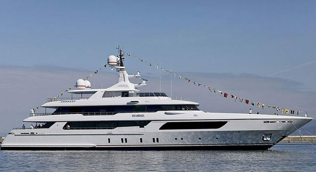 the megayacht My Legacy is Codecasa's legacy as well