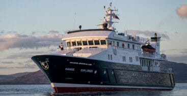 an expedition aboard Hanse Explorer this summer sees the megayacht go to Iceland