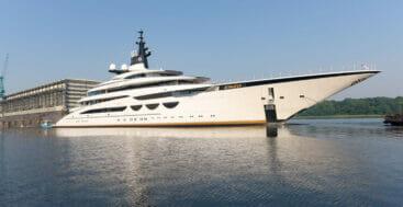 Lurssen launched the megayacht project Enzo on June 18, 2021