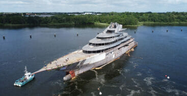 the Lurssen megayacht Project JAG had a technical launch in June 2021