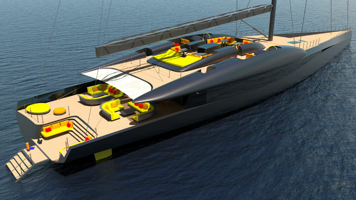 Project Fury is a performance sailing superyacht from Rob Doyle Design and Van Geest Design