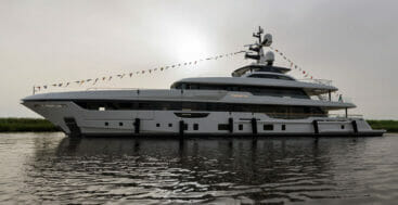 the Rossinavi Piacere is a fully custom megayacht for an American family