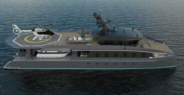 the ToyBox superyacht catamaran is a ShadowCat concept