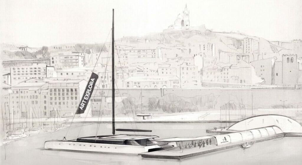 The Italian Sea Group is building Art Explora, a megayacht sailing catamaran