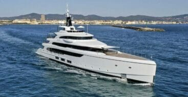 the Benetti Triumph superyacht saw delivery in 2021