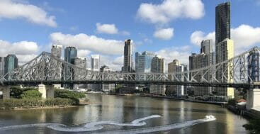 the 2032 Brisbane Olympics will see superyachts along the Brisbane River