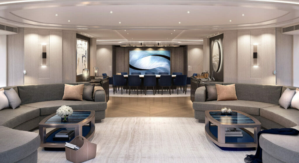 sophisticated superyacht style aboard Heesen's Project Akira