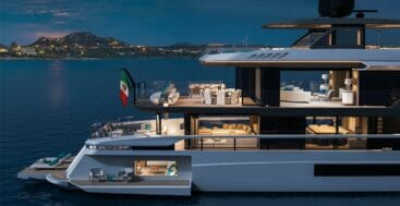 the Mangusta Oceano 44 megayacht has a lot of opening sides