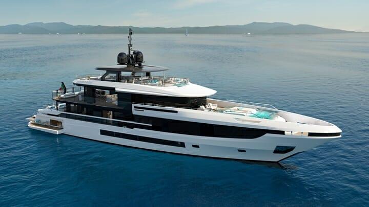 the Mangusta Oceano 44 megayacht has a lot of glass bulkheads