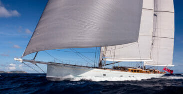 superyacht spotting for July Fourth this year includes Elfje in Newport