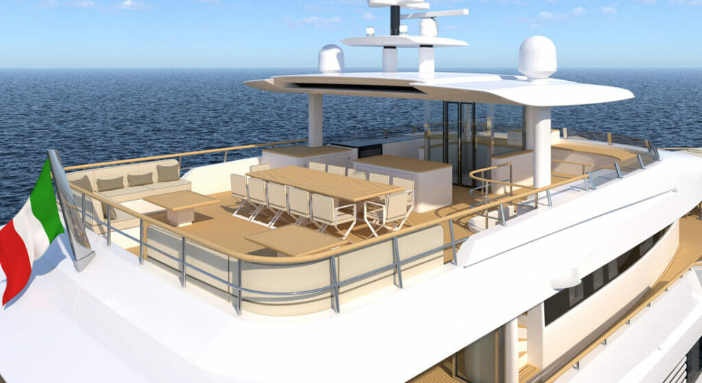 the Explorer 49.5 is a superyacht designed by Tomasso Spadolini