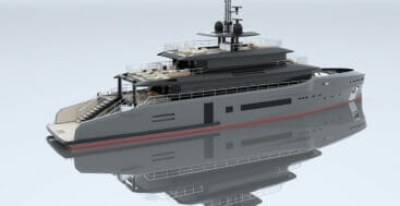 Studio Sculli's MSS 44 megayacht is capable of carrying a Jeep