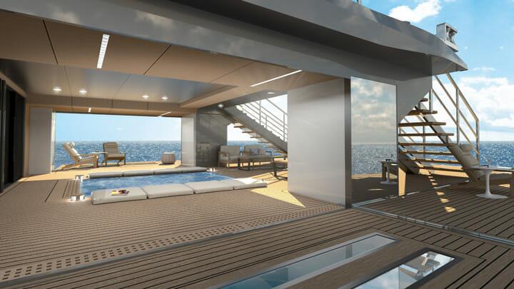 Studio Sculli's MSS 44 megayacht has a pool