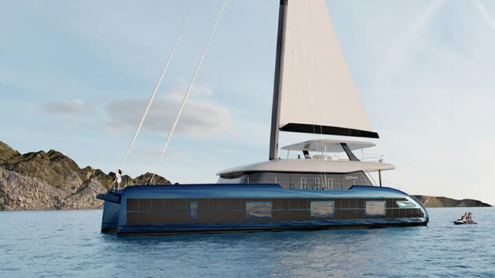 the Sunreef 100 Eco superyacht has solar panels