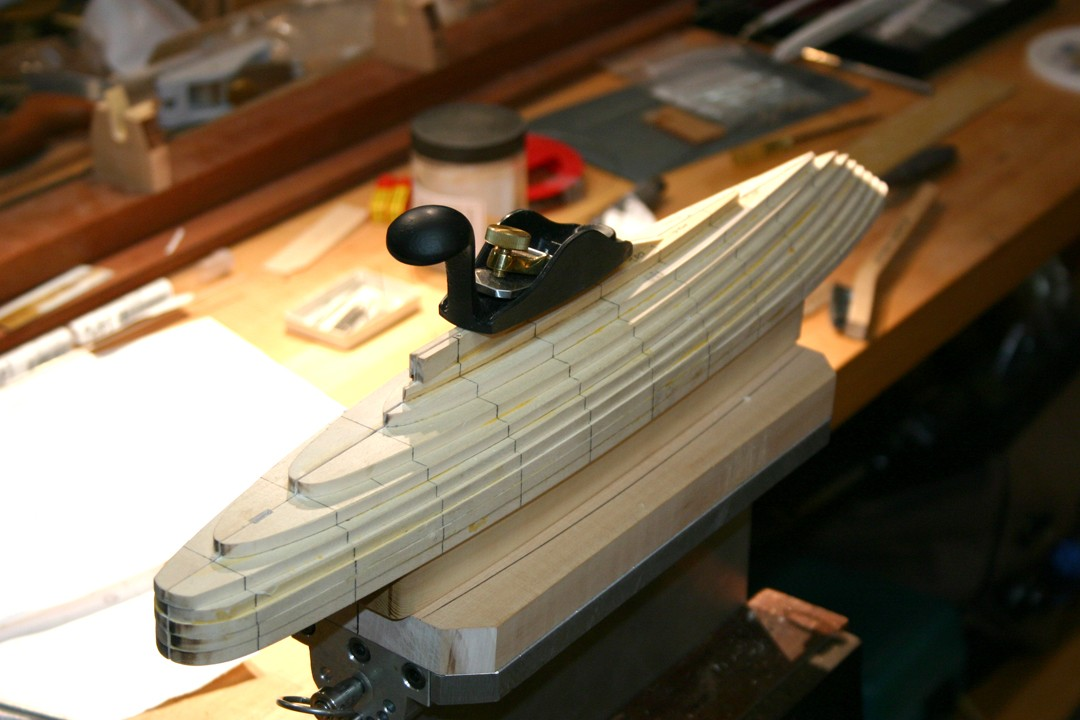 Maltese Falcon model hull lifts