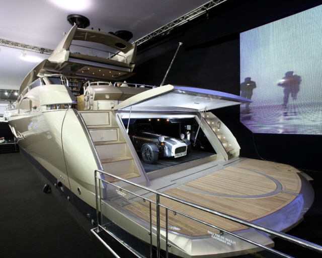 For The Car With A Boat Garage : Buy a sunseeker get sports car megayacht news