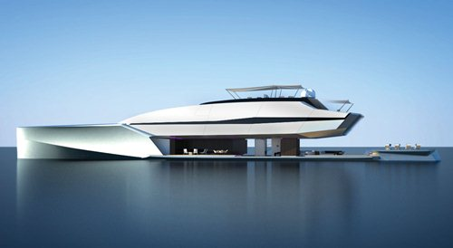 superyacht RA open aft deck