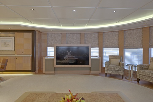 Lurssen Solemates upper lounge TV