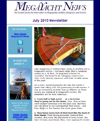 Megayacht News e-newsletter